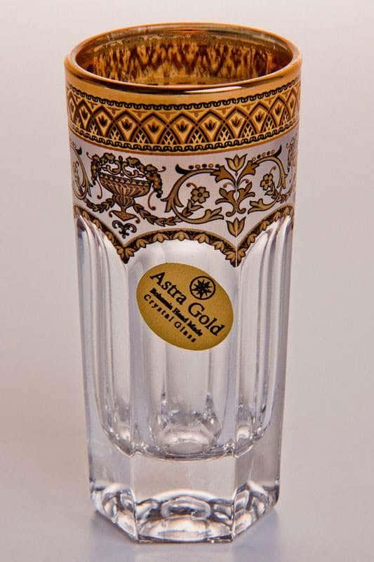Провенза Империя Набор стаканов для водки Astra Gold 50 мл