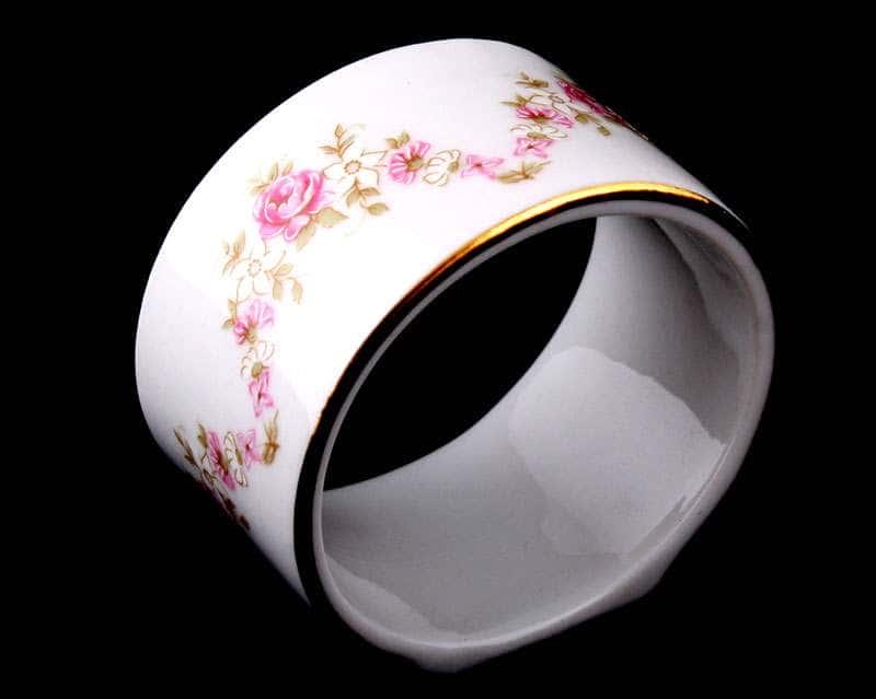 Кольцо для салфеток большое Соната Мелкие цветы