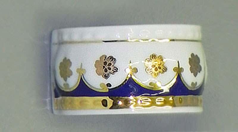 Кольцо для салфеток большое Соната Золотой цветок Кобальт