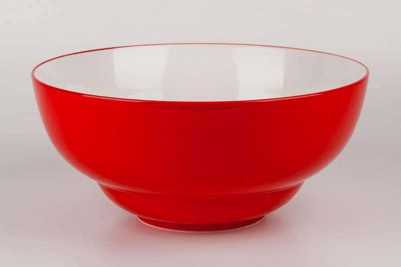 Салатник из керамики 28 см красный Waechtersbach