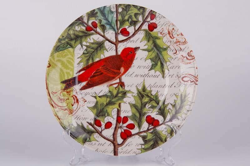 Красная птица Тарелка из керамики Waechtersbach 21 см