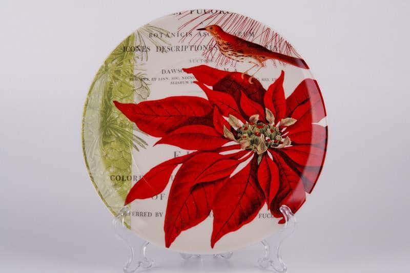 Цветок и птица Тарелка из керамики Waechtersbach 21 см