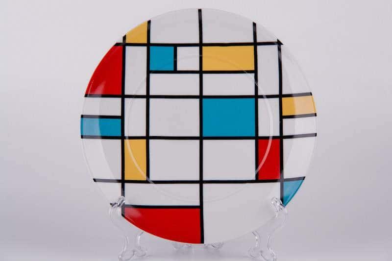 Тарелка из керамики Waechtersbach  21 см с геометрическим узором