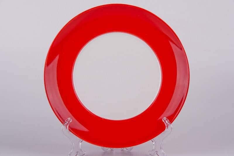 Тарелка красная Waechtersbach из керамики 21 см