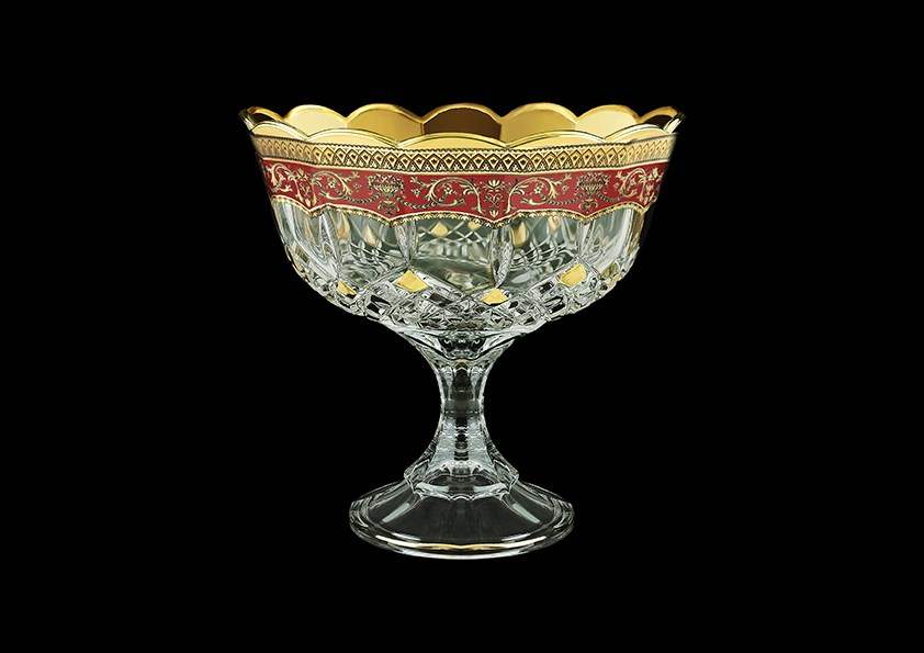 Ваза для конфет Опера Империя 18 см красная