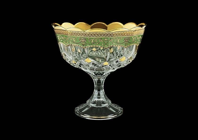 Ваза для конфет Опера Империя 18 см зеленая