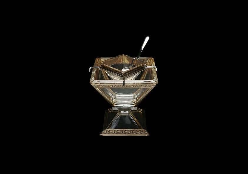 Ваза для варенья 2 предмета Лилит 14 см Astra Gold