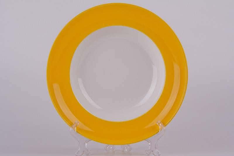 Тарелка из керамики Waechtersbach 23 см желтая