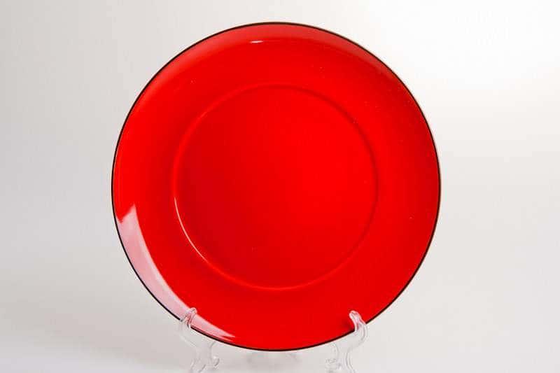 Тарелка  красная Waechtersbach из керамики 27 см