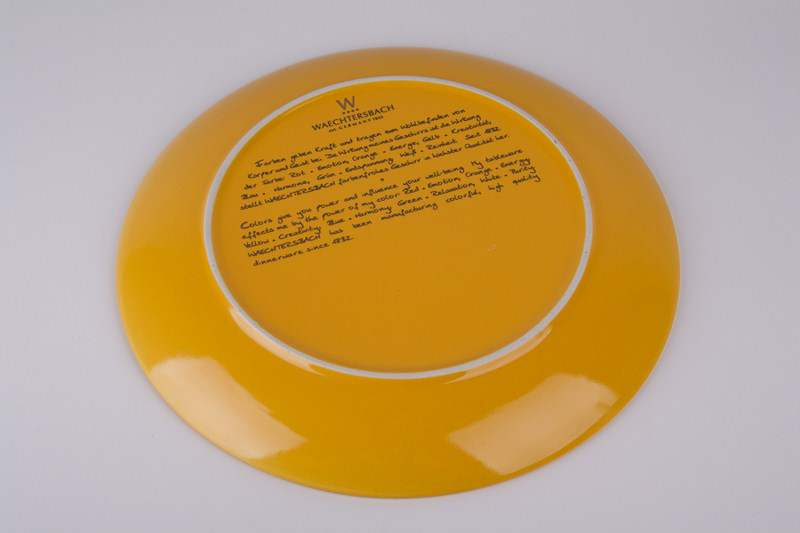 Тарелка из керамики Waechtersbach 27 см желтая