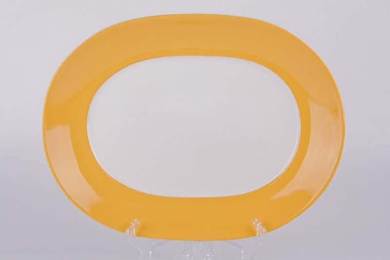 Тарелка из керамики Waechtersbach 33 см желтая