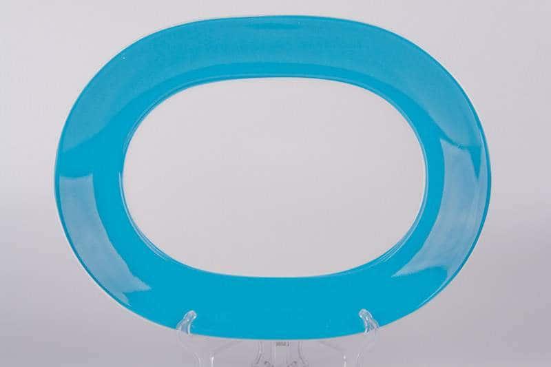 Тарелка из керамики Waechtersbach 33 см голубая