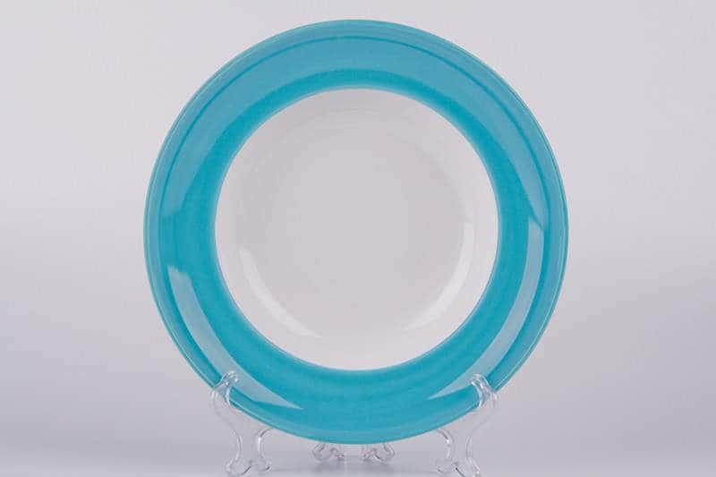 Тарелка глубокая из керамики Waechtersbach 23 см голубая