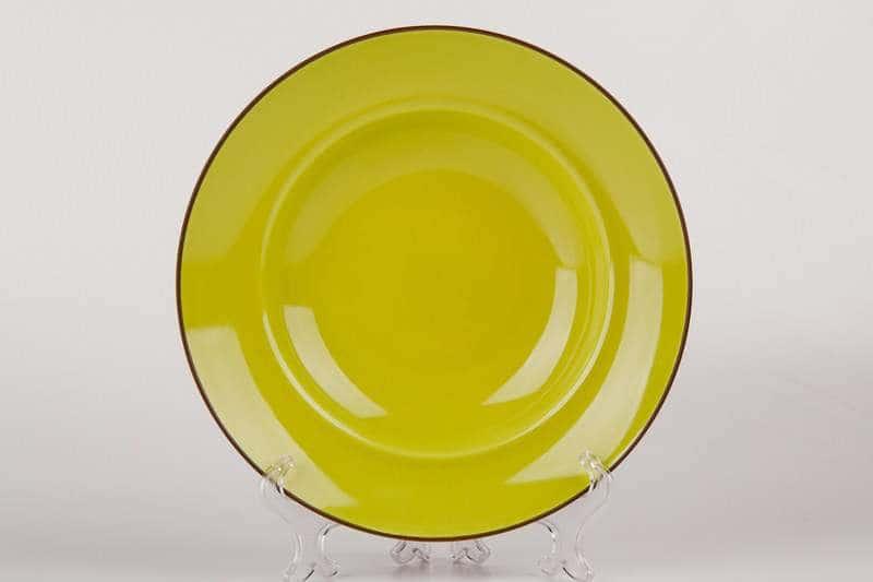 Тарелка глубокая из керамики Waechtersbach 23 см зеленая