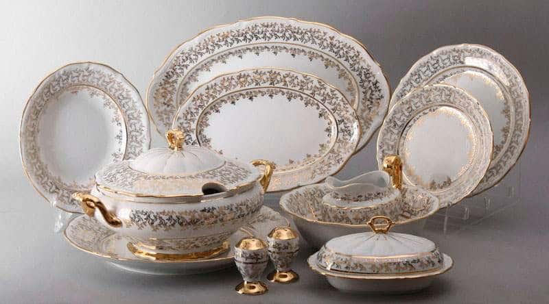Лист белый Сервиз столовый Bavarian Porcelain на 6 персон