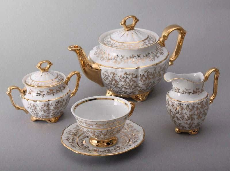 Лист белый Сервиз чайный Bavarian на 6 персон 15 предметов