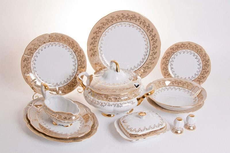 Мария - Лист медовый Сервиз столовый Bavarian на 6персон 27 предметов