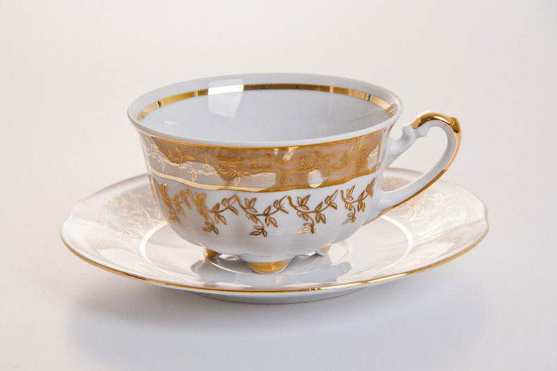 Мария - Лист медовый Набор для чая (чашка 200мл+блюдце) на 6персон