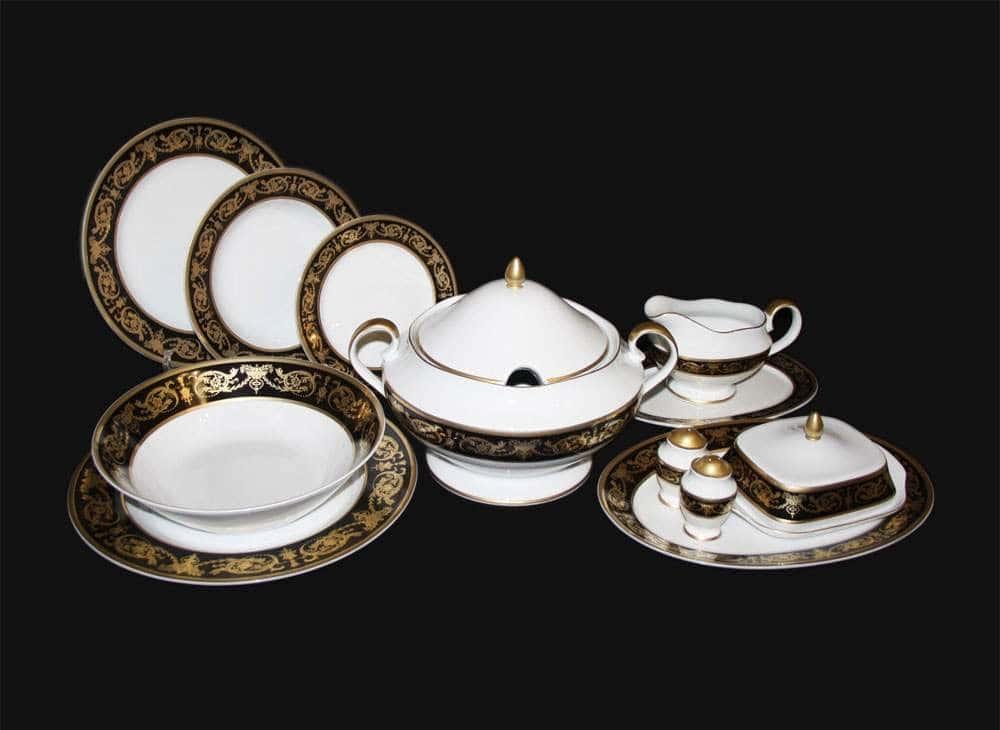 Александрия Блэк Сервиз столовый Bavarian на 6 персон 27 предметов