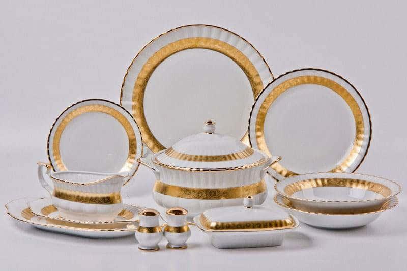 Лента Рельеф золото Сервиз столовый Bavarian на 6 персон