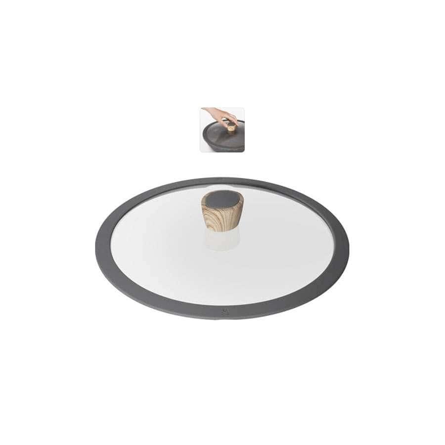 Mineralica Стеклянная крышка с силиконовым ободом 24 см Nadoba
