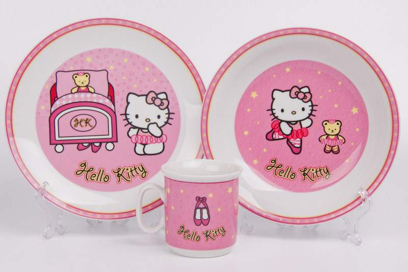 Набор детский 3 предмета Hello Kitty розовый