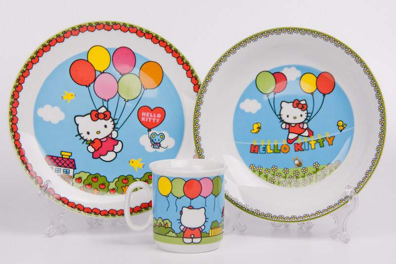 Набор детский 3 предмета Hello Kitty