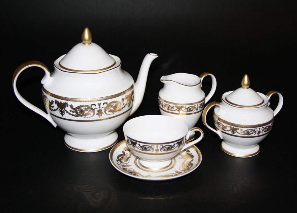 Александрия Голд Чайный сервиз Bavarian Porcelain 15 предметов