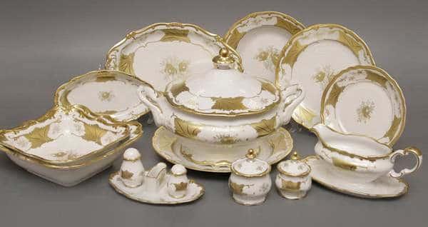 Кленовый лист белый Сервиз столовый Weimar на 6 персон 30 предметов