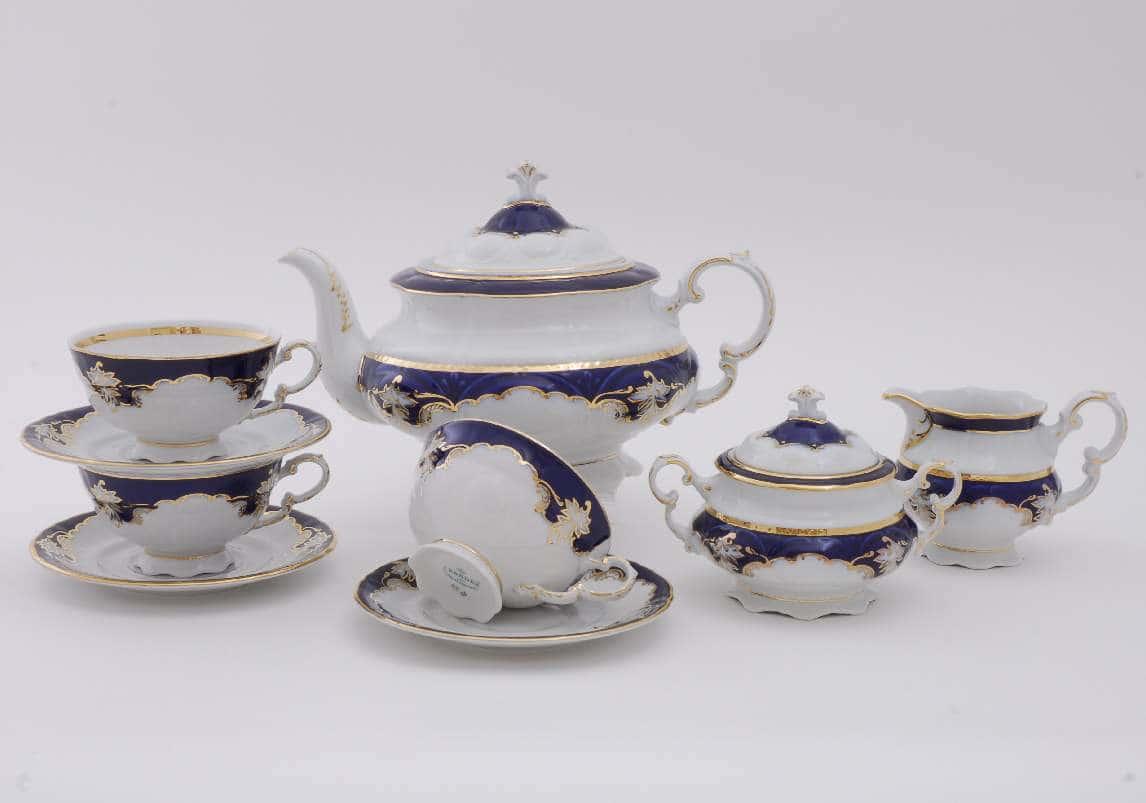 Чайный сервиз 15 предметов Соната Кобальт 1357
