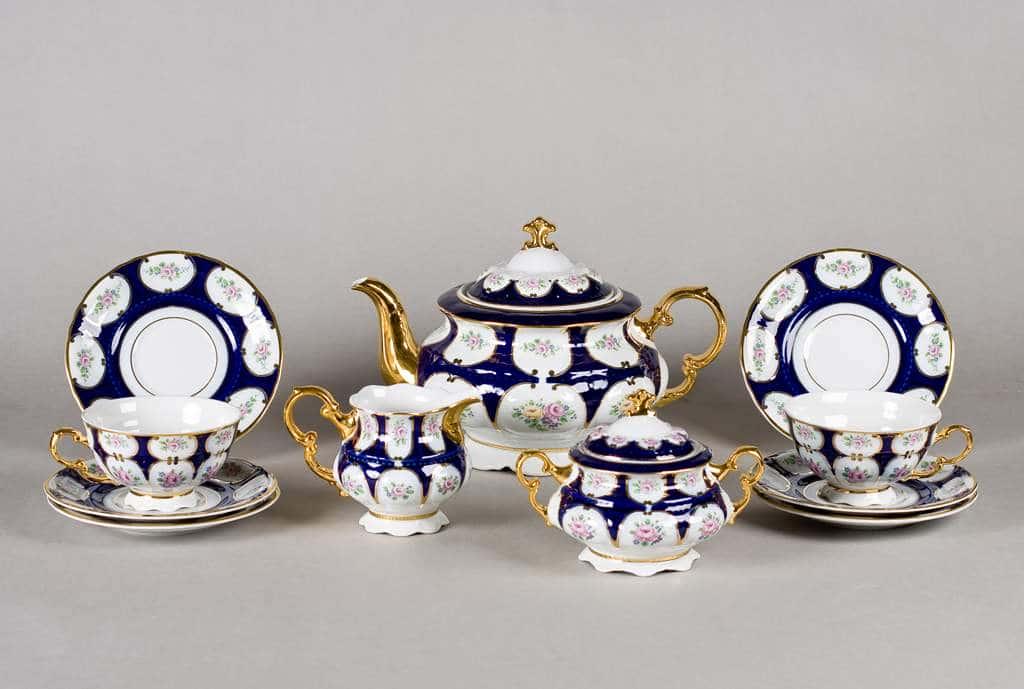Соната Кобальт Чайный сервиз Leander 15 предметов