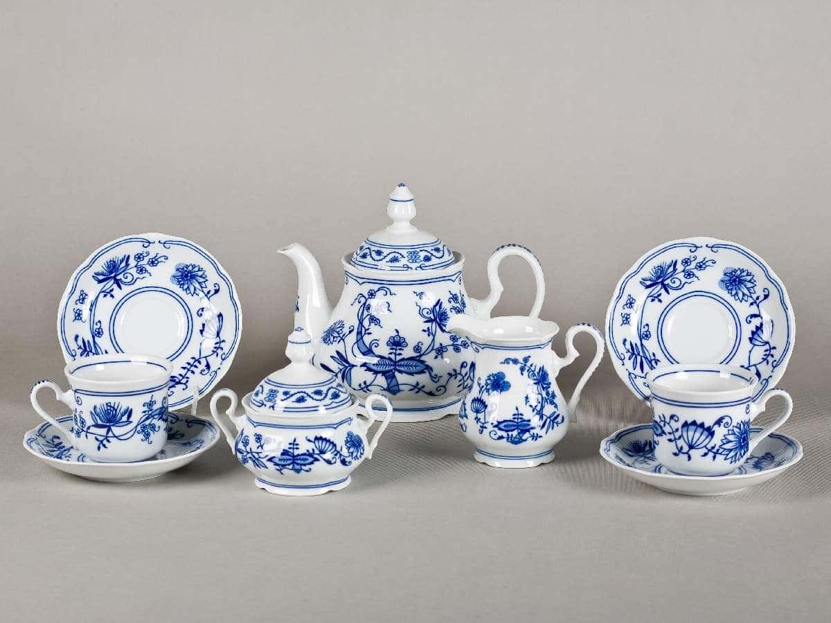 Мэри Энн Гжель Чайный сервиз Leander 15 предметов