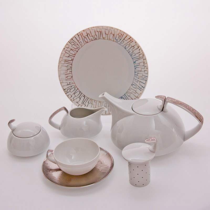 Тацскин платин Чайный сервиз Rosenthal 21 предмет