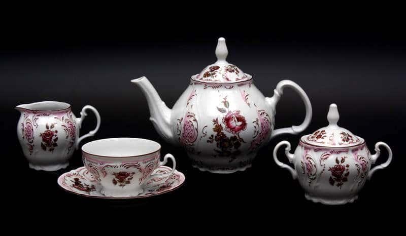 Бернадот 5058 Чайный сервиз из фарфора 15 предметов