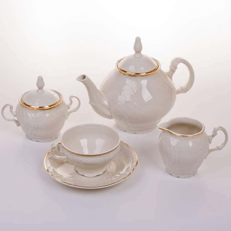 Бернадот Ивори Чайный сервиз из фарфора 15 предметов