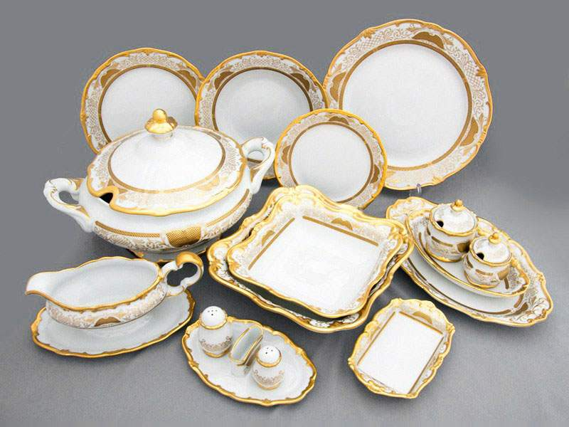 Симфония Золотая Сервиз столовый Weimar на 12 персон 49 предметов
