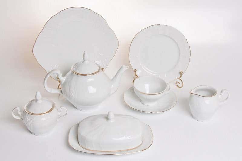 Бернадот белый 311011 Чайный сервиз на 12 персон 41 предмет