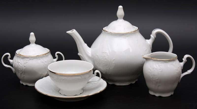 Бернадот белый 311011 Чайный сервиз 15 предметов из фарфора