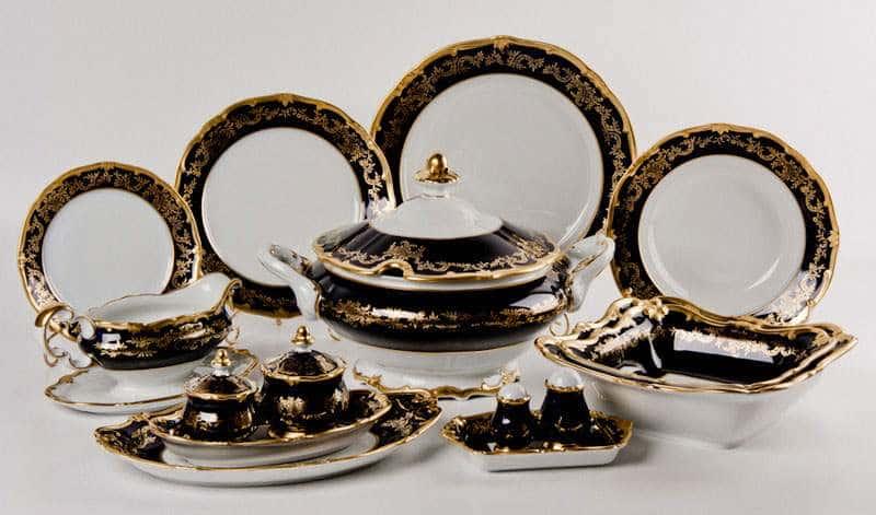 Ювел синий Сервиз столовый Weimar на 6 персон 30 предметов