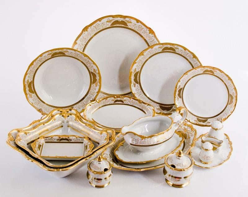 Симфония Золотая Сервиз столовый Weimar на 12 персон 48 предметов