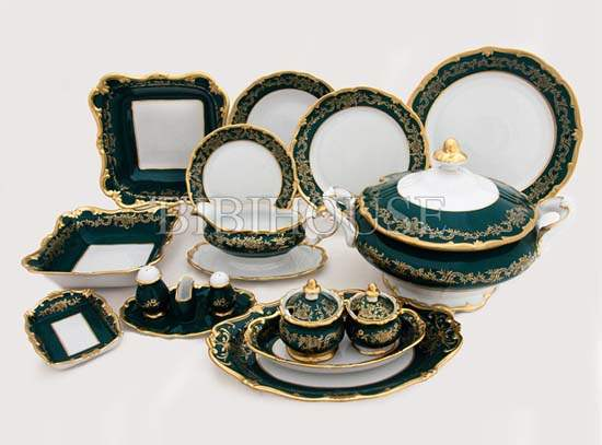 Ювел зеленый Сервиз столовый Weimar на 6 персон 30 предметов