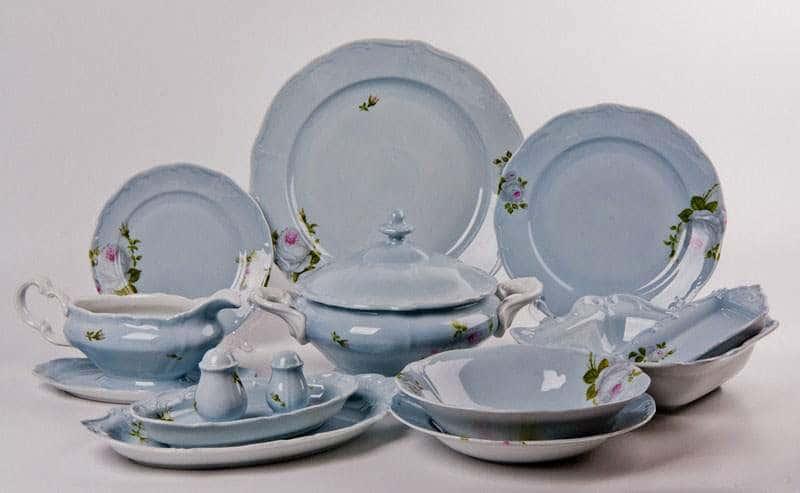 Алвин голубой Сервиз столовый Weimar на 6 персон 26 предметов