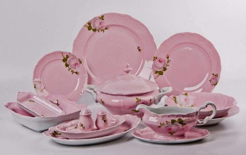 Алвин розовый Сервиз столовый Weimar на 6 персон 26 предметов
