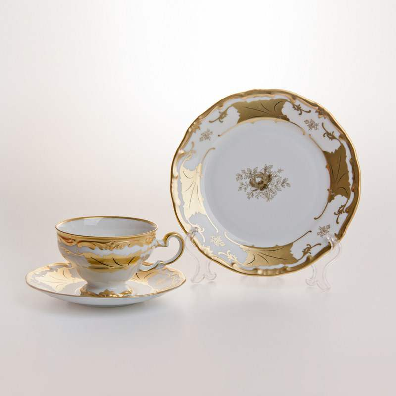 Кленовый лист белый Чайный сервиз Weimar Porcelain 18 предмет