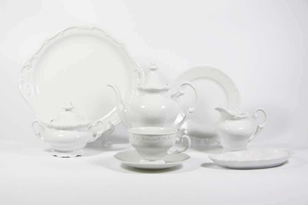 Недекорированный Чайный сервиз Weimar Porzellan 23 предмета