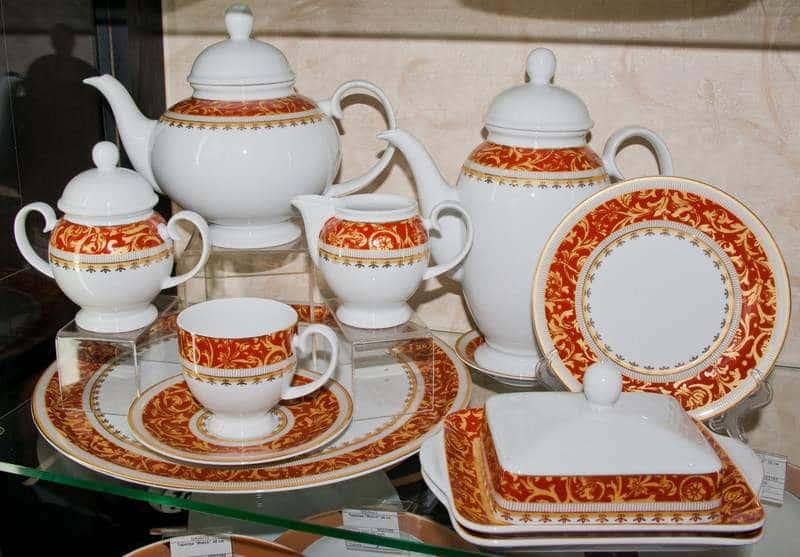 Бельведер Чайный сервиз Weimar Porcellan 31 предмет