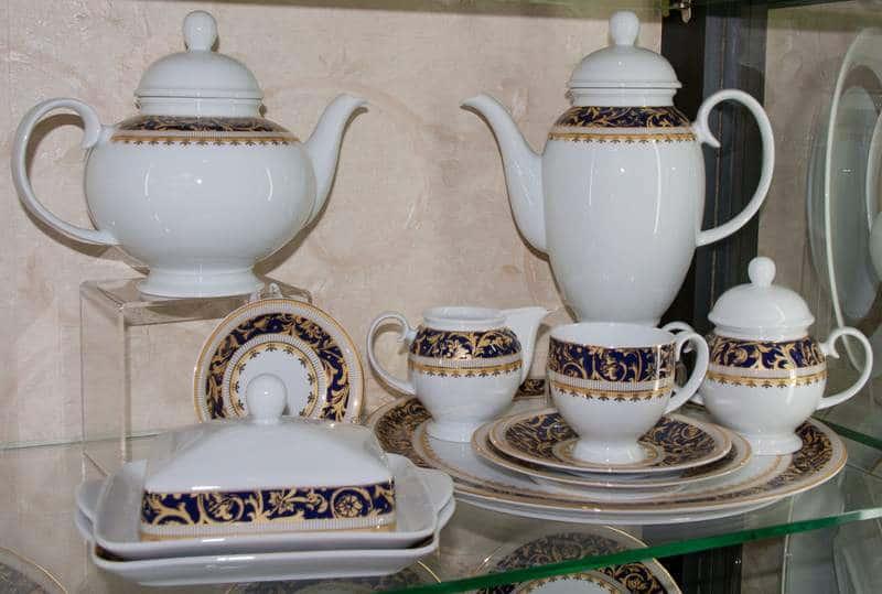 Бельведер Weimar Porcellan Чайный сервиз 31 предмет