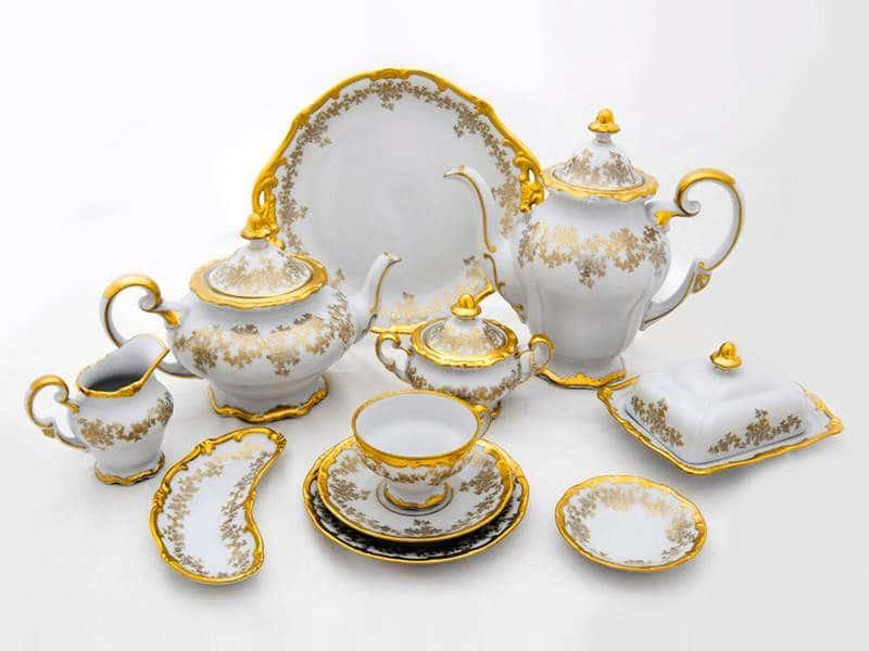Кастэл Чайный сервиз Weimar Porcellan 55 предмета