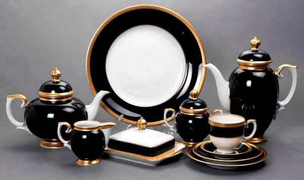 Бельведер синий Чайный сервиз Weimar Porcellan 54 предметa