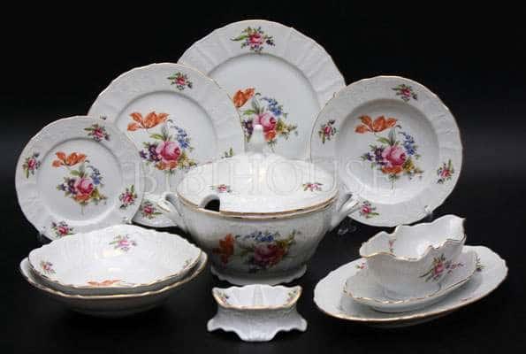 Бернадот Полевой цветок Сервиз столовый Thun на 6 персон 26 предметов